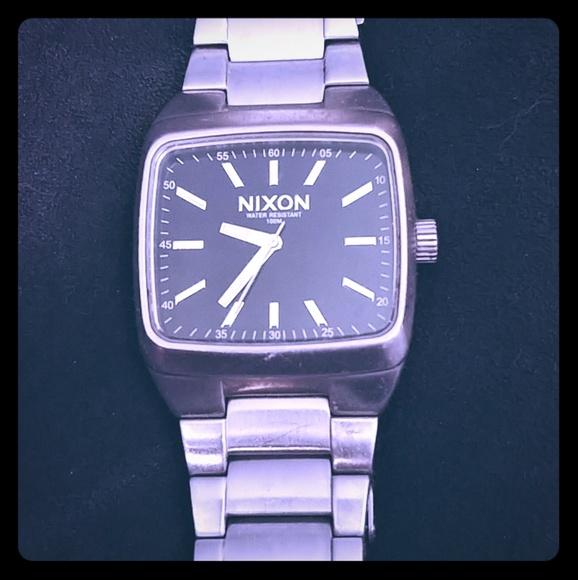 Mens nixon block ss watch full stack stainless steel   #268474054.